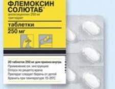 Флемоксин солютаб - інструкція, застосування, дозування, побічні дії