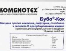 Вакцина від дифтерії, кашлюку, правця, гепатиту в (побічні дії, інструкція із застосування)