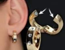 Золота сережка і магнітні сережки для схуднення